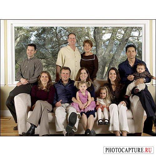 Съемка семейного портрета в помещении