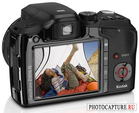 Kodak EasyShare Z1015 IS: зум 15x, оптический стабилизатор и «HD-съемка»