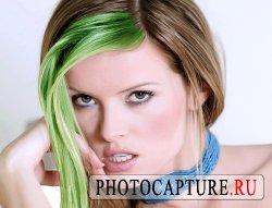 Окрашенная в photoshop прядь волос