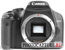 Рукоятка у Canon 450D увеличена, что хорошо сказывается на эргономике