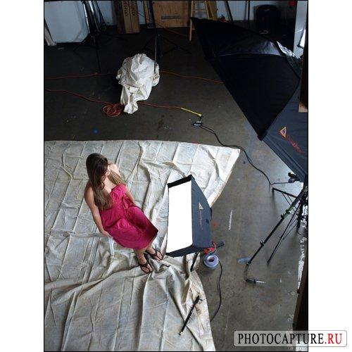 Съемка 'погрудного' портрета с помощью софтбокса