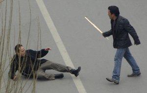 Ожесточённые протесты в Лхасе, жители Тибета против китайцев. 14 марта 2008 год. REUTERS