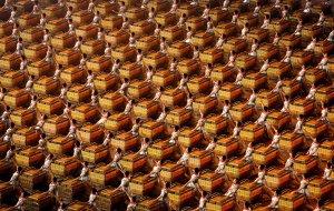 Барабанщики, торжественное открытие летней Пекинской Олимпиады в 2008 году. 8 августа 2008 год. Adam Pretty/Getty Images