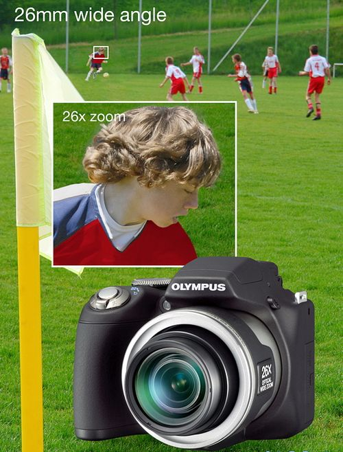 CES 2009: новая фотокамера SP-590 UZ от Olympus
