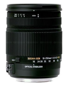 Новый объектив Sigma 18-250mm DC OS HSM