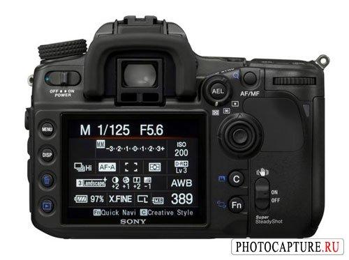 ЖК-дисплей цифровой зеркальной фотокамеры Sony DSLR-A700