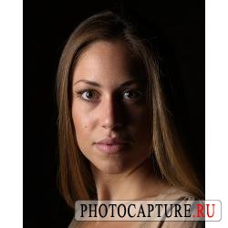Съемка портрета с использованием насадки 'жалюзи'